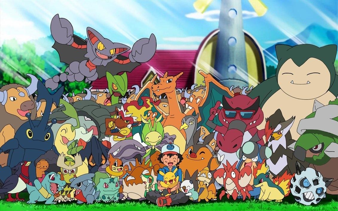 ash with his pokemon70jack90 on deviantart