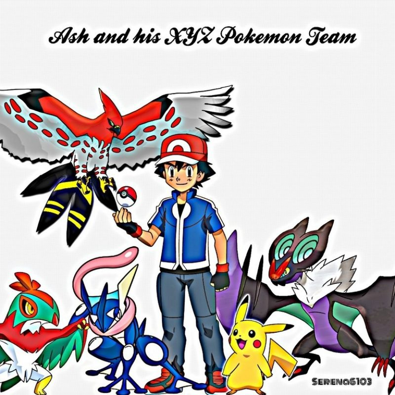 10 New Ash's Pokemon Group Photo FULL HD 1920×1080 For PC Desktop 2018 free download ash with his xyz teamthekalosqueenserena on deviantart 800x800