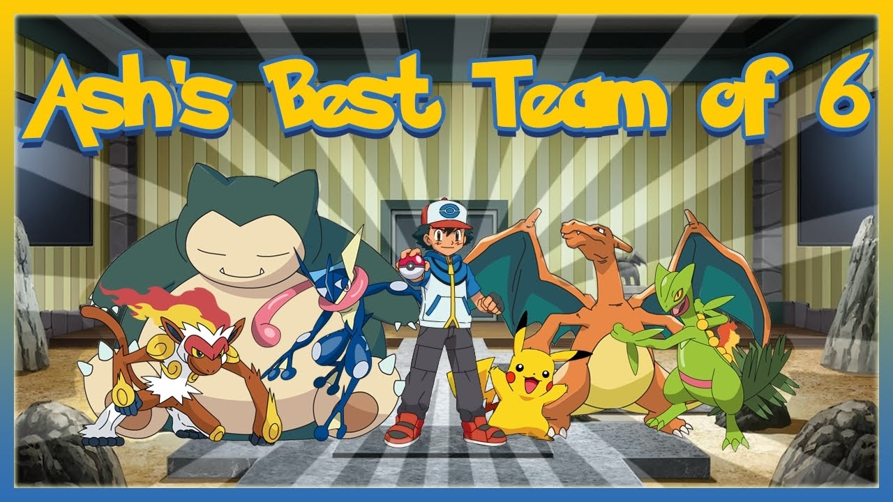 ash's best team of 6 pokemon - youtube