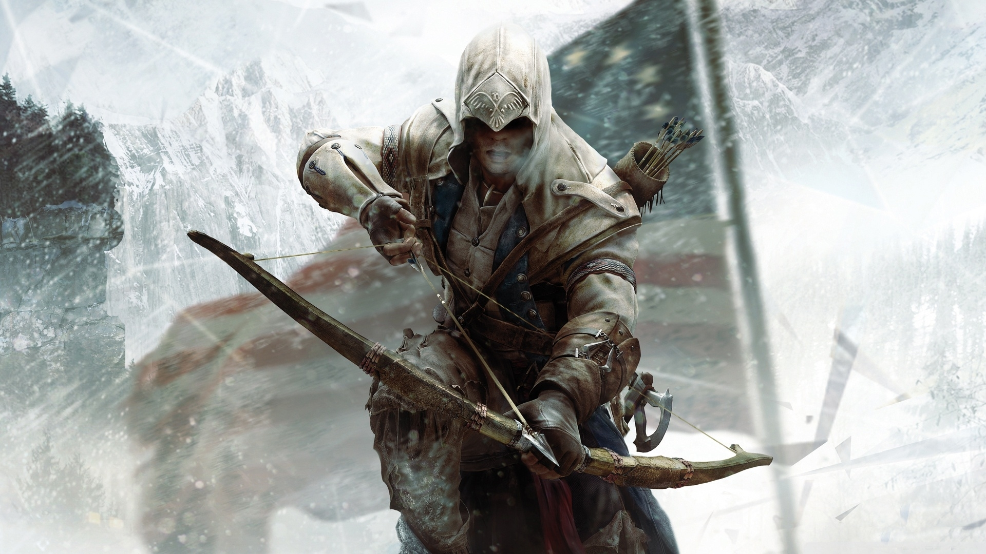 assassins creed 3 connor bow-wallpaper-1920x1080 - 10 000 fonds d