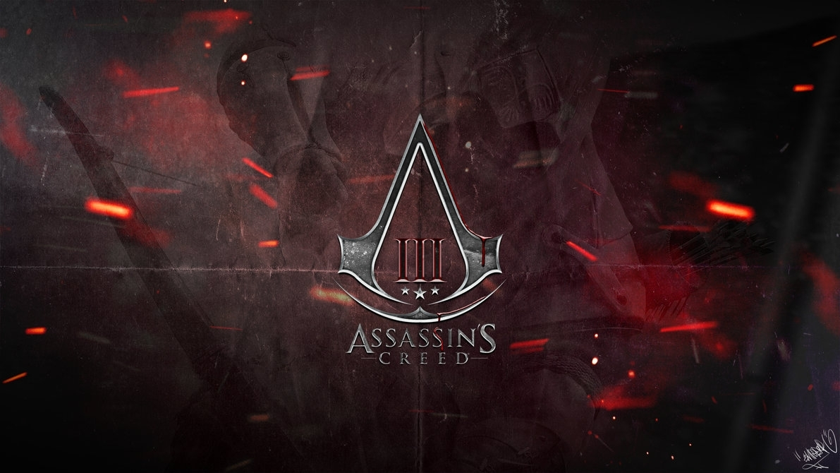 assassin's creed 3 - logo wallpaperemperaa on deviantart