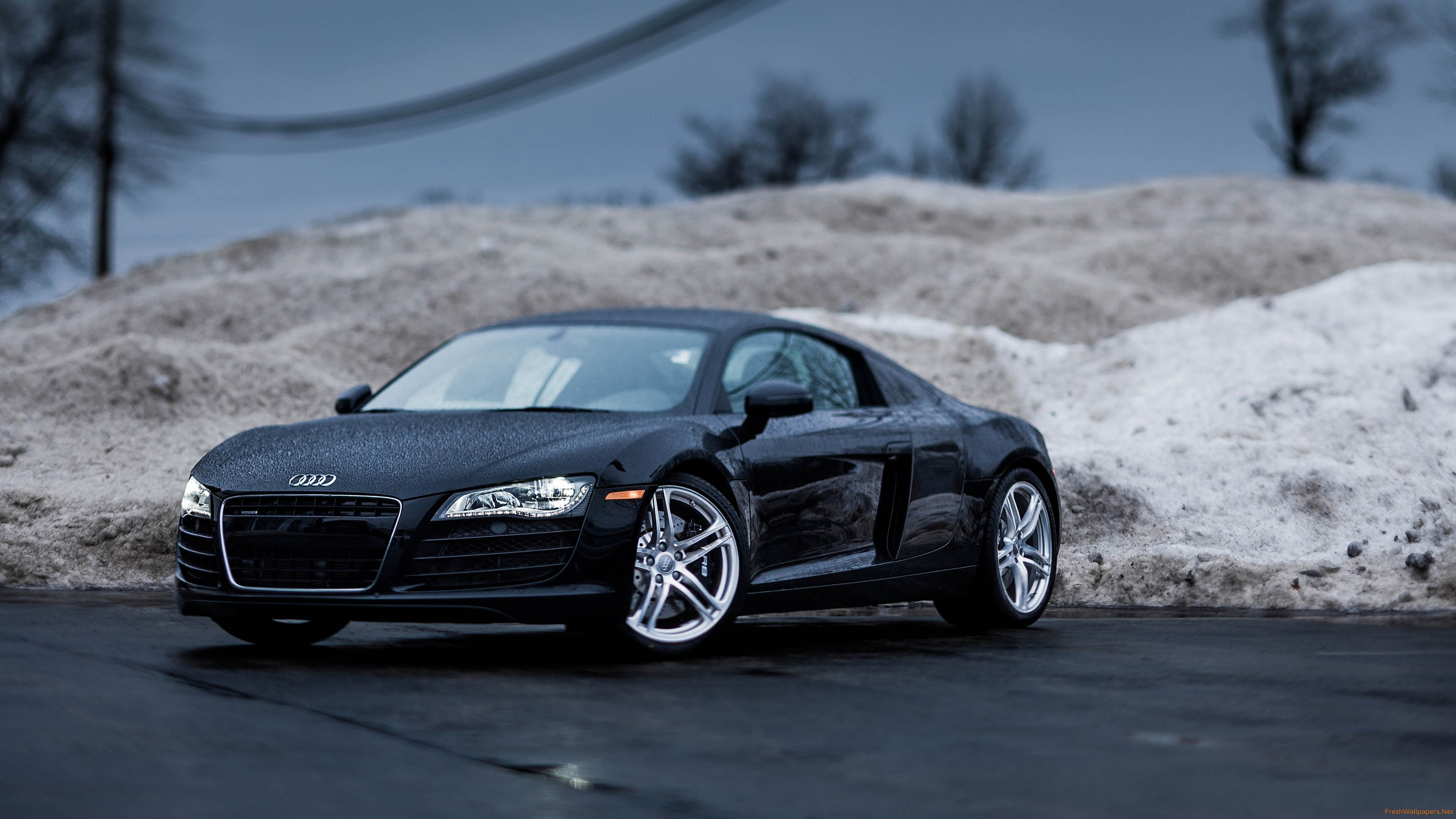 10 New Audi R8 Matte Black Wallpaper FULL HD 1080p For PC Desktop