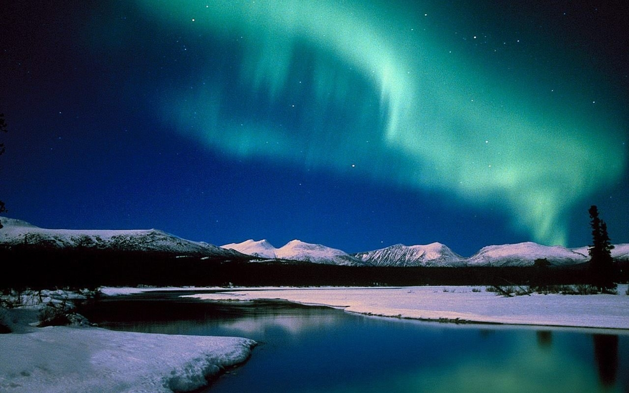 aurora borealis hdr photography landscapes nature - walldevil