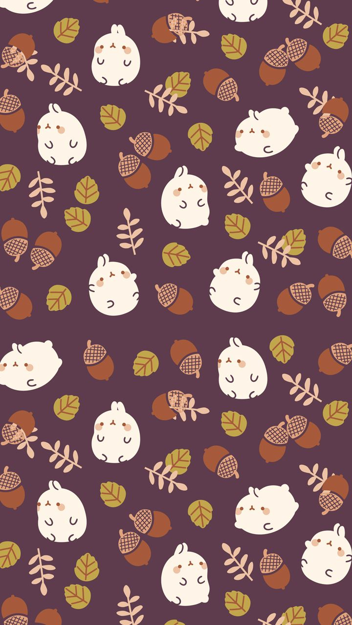autumn molang background | cute wallpapers | cute fall wallpaper