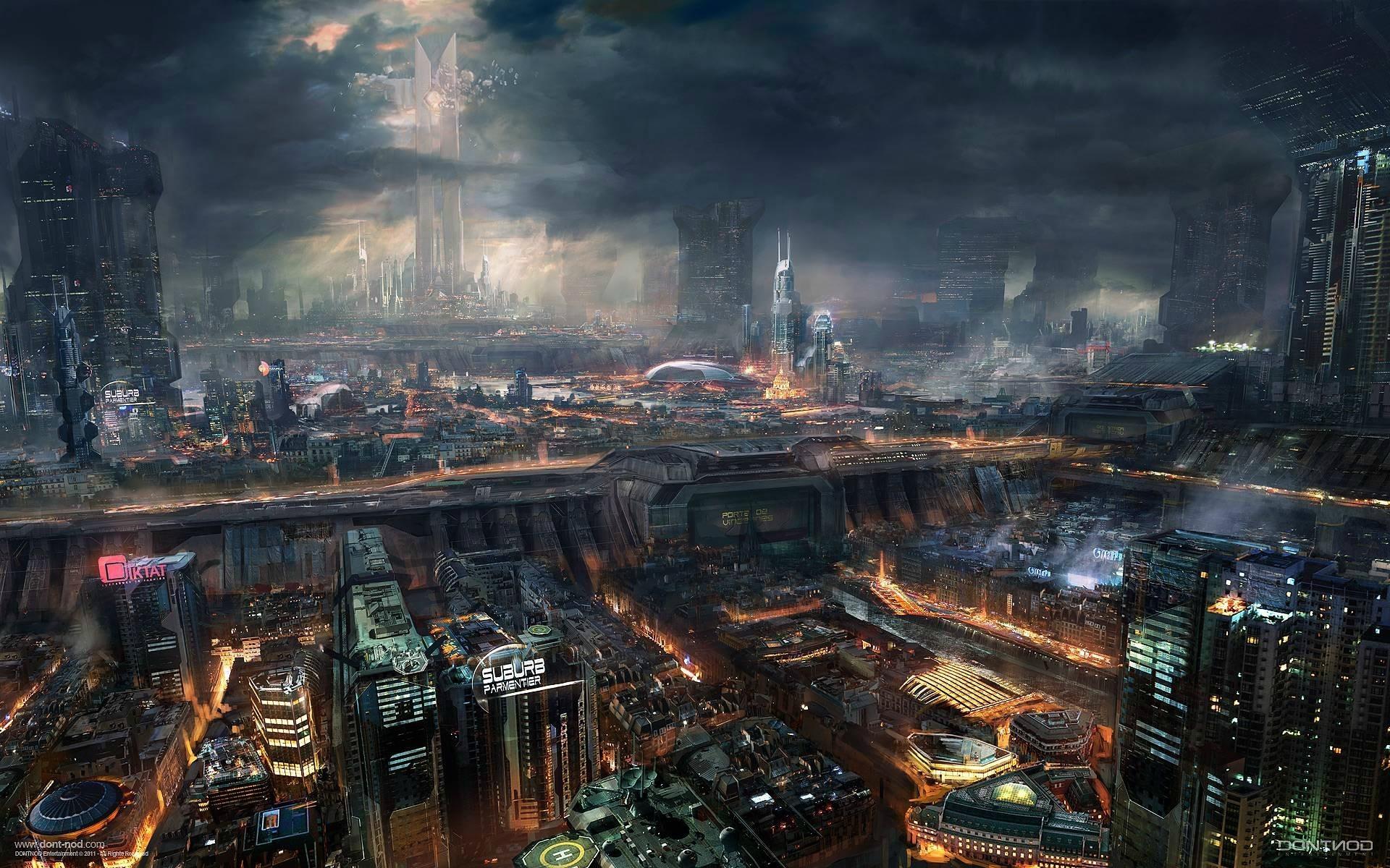 awesome future city best desktop wallpaper - hd wallpapers