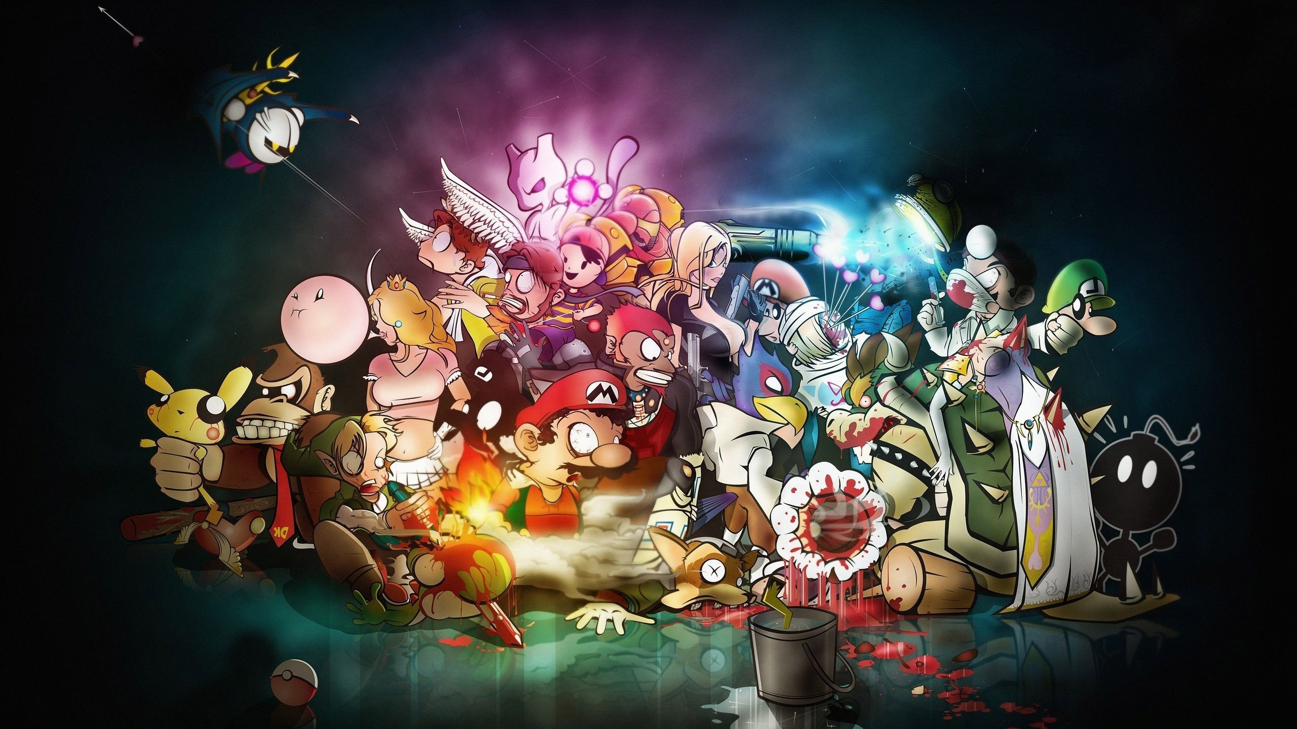 awesome video game wallpaper mashups (72+ images)