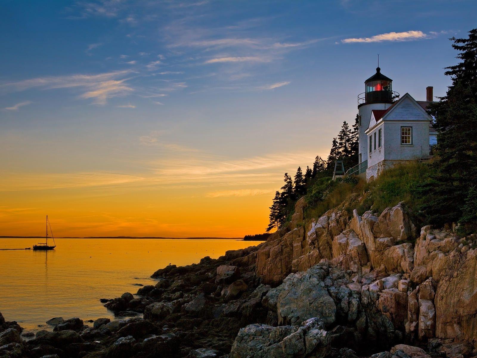 bass harbor lighthouse acadia national park maine us | maine