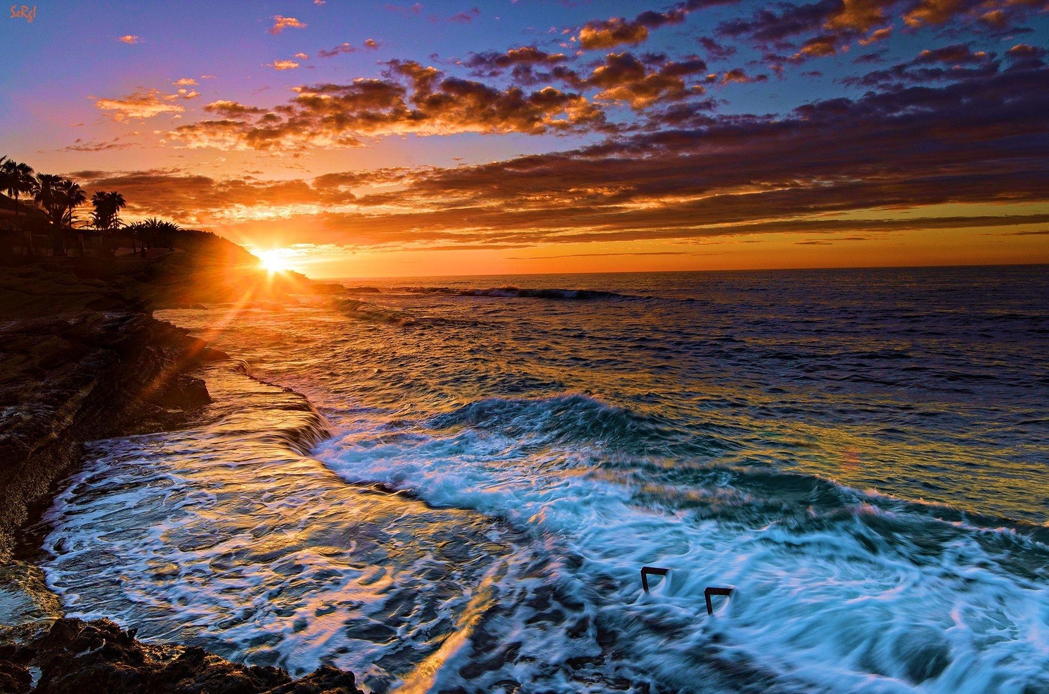 beach sunset desktop wallpaper (70+ images)