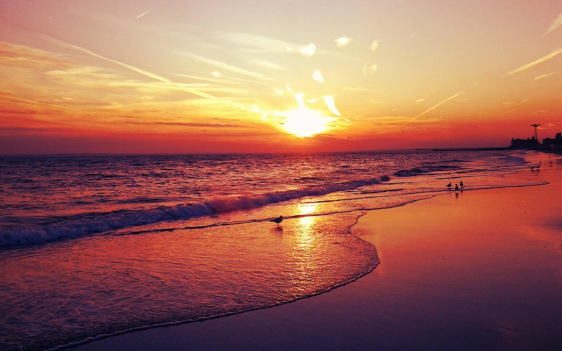 beach wallpaper sunset beautiful hd #2349 wallpaper | walldiskpaper