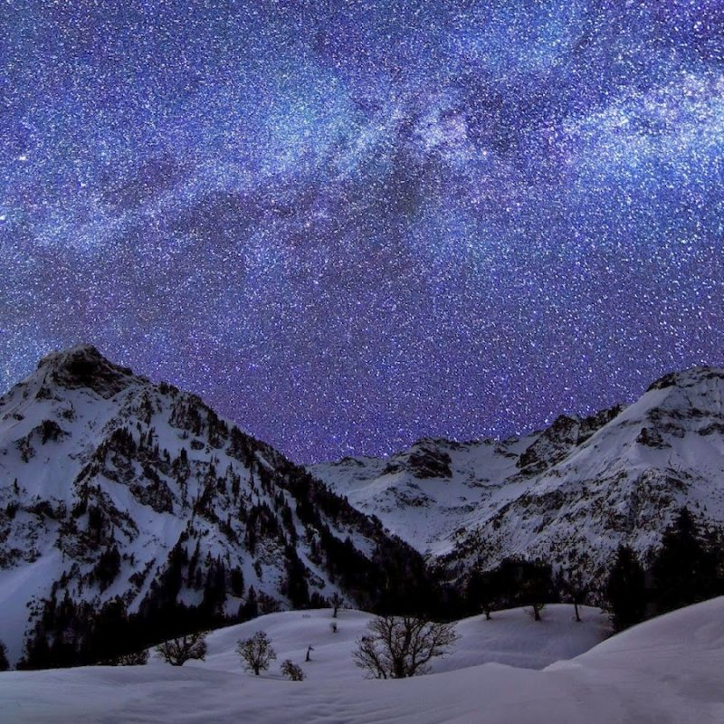 10 New Snow Mountains Wallpaper Night FULL HD 1920×1080 For PC Desktop 2020 free download beautiful nature images and wallpapers snow mountain night 1 800x800