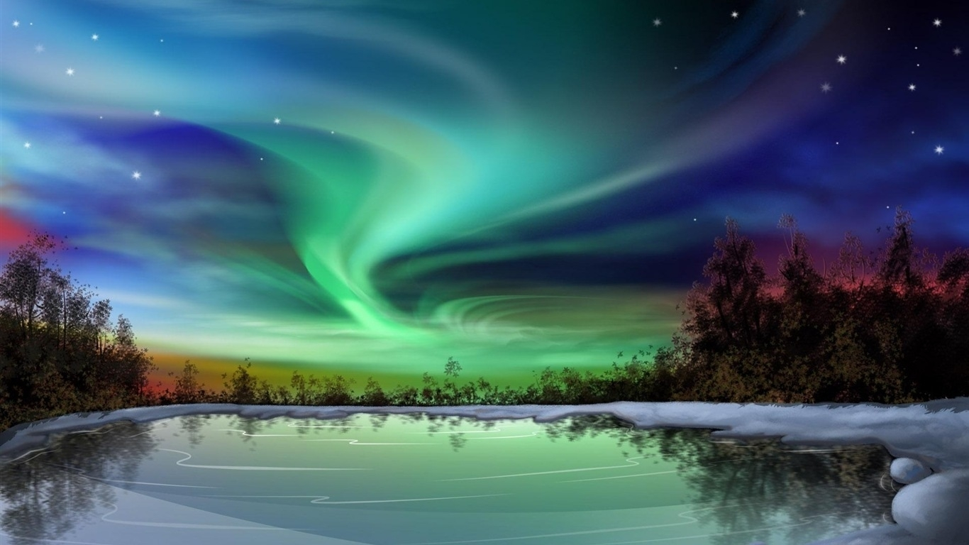 beautiful northern lights hd download at wallpaperia