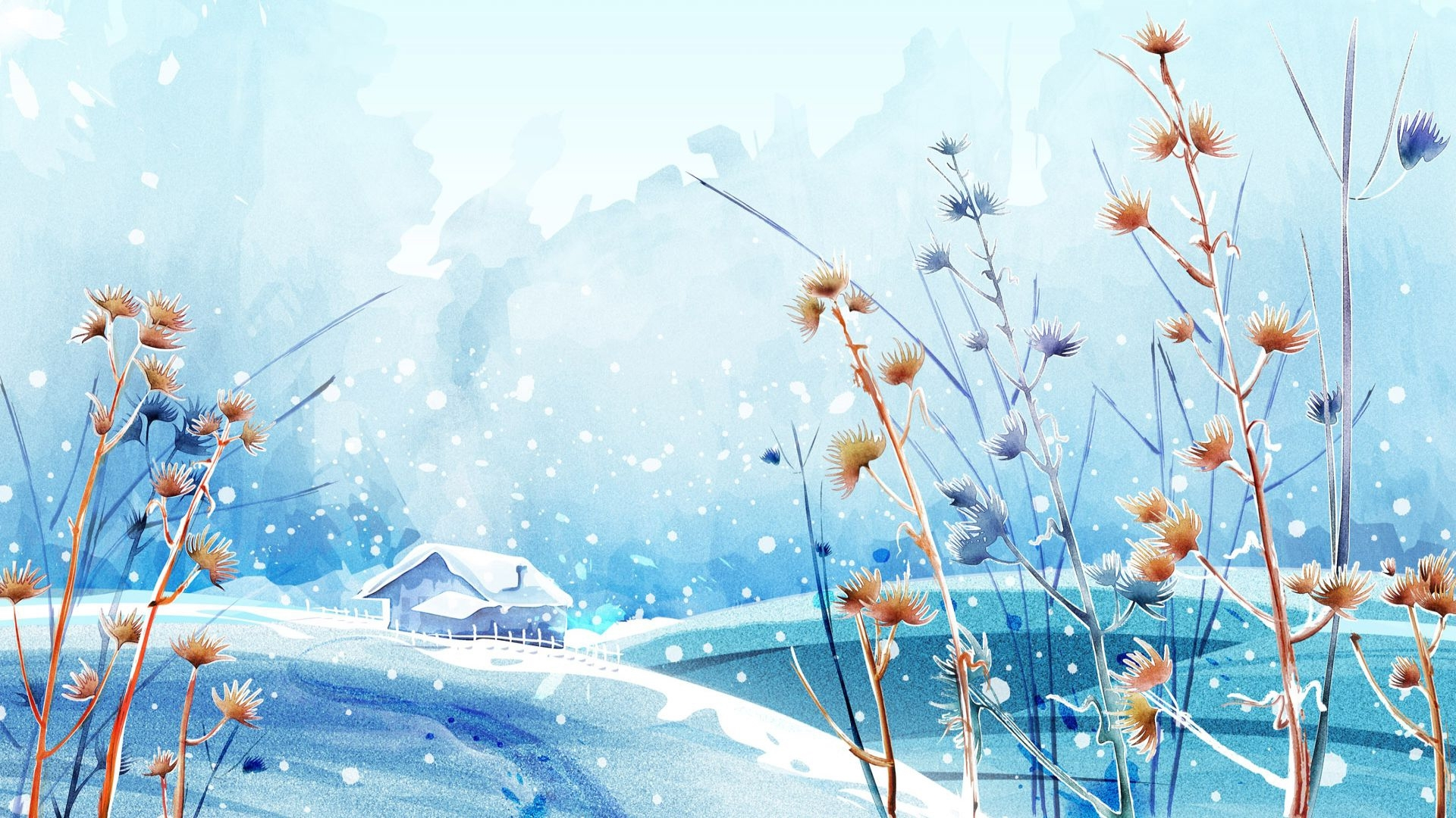 beautiful winter anime pictures | digiatto | hd wallpaper and