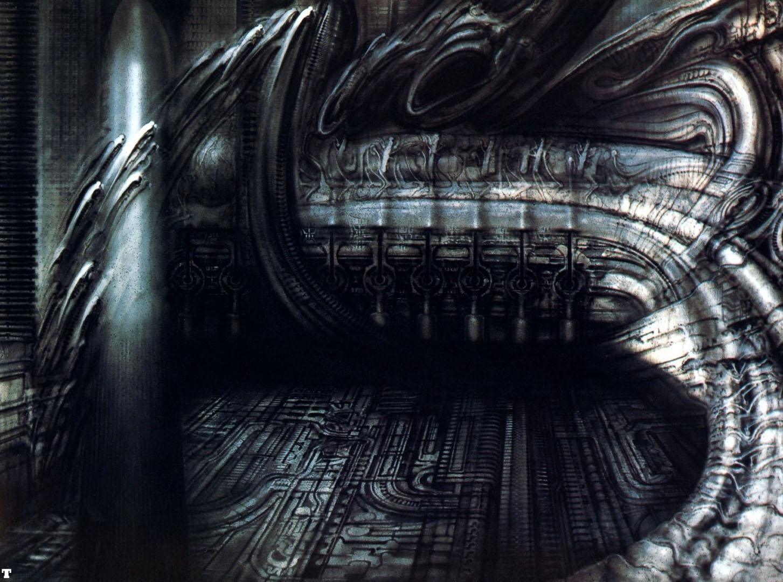 biomechanical landscape 007 - science fiction h r giger