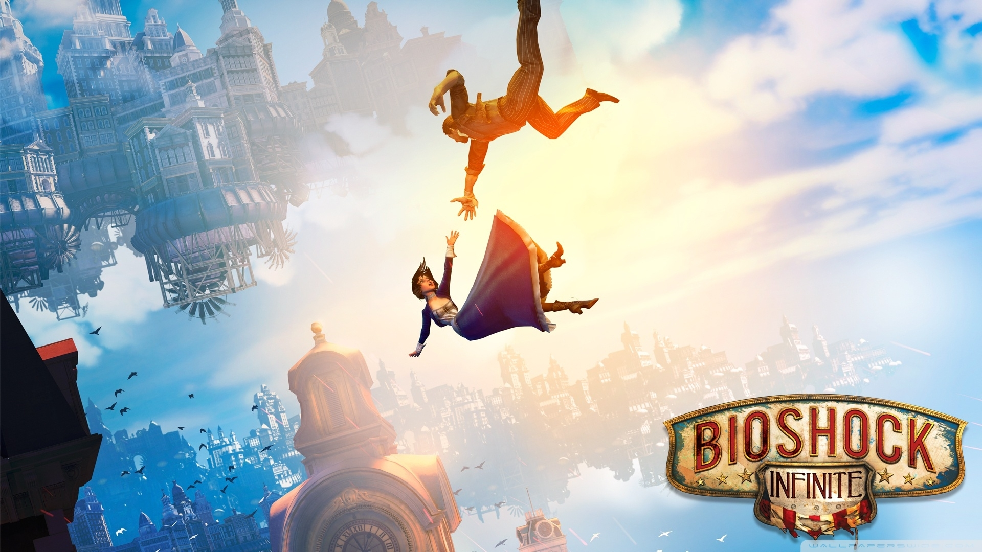 bioshock infinite falling ❤ 4k hd desktop wallpaper for 4k ultra hd