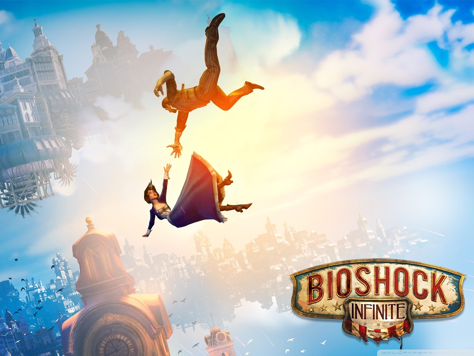 bioshock infinite falling ❤ 4k hd desktop wallpaper for 4k ultra