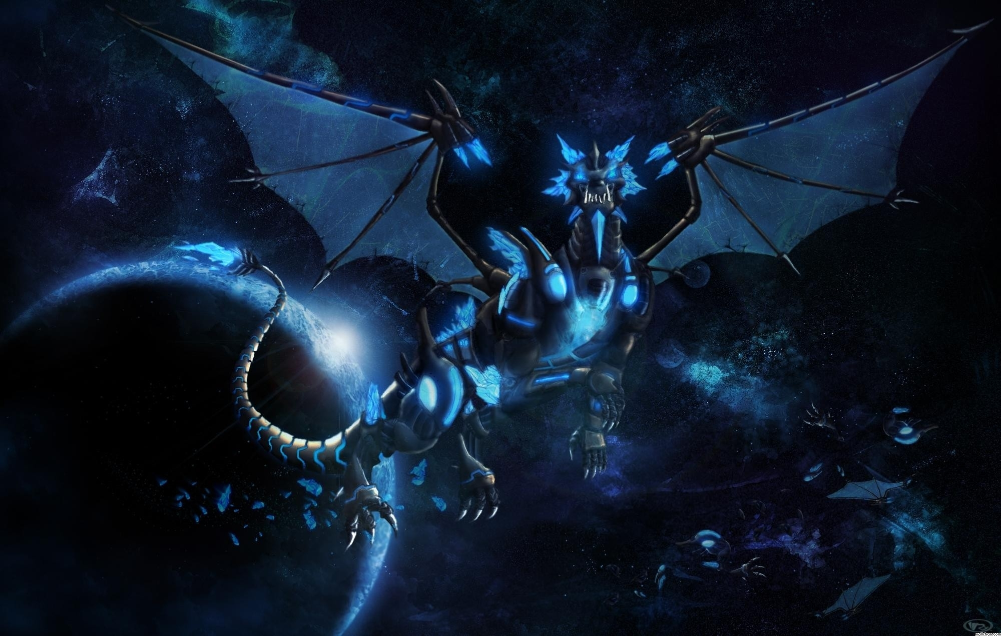 black and blue dragon wallpaper 1920x 1080 - hdwall
