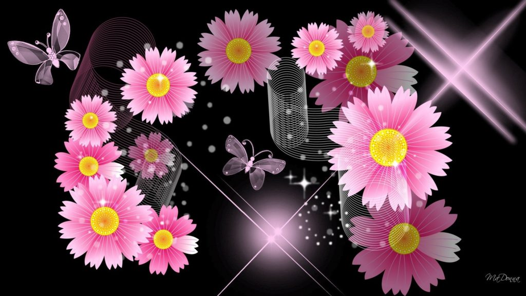 10 Top Black And Pink Flower Wallpaper FULL HD 1080p For PC Background 2018 free download black and pink flower walldevil 1024x576