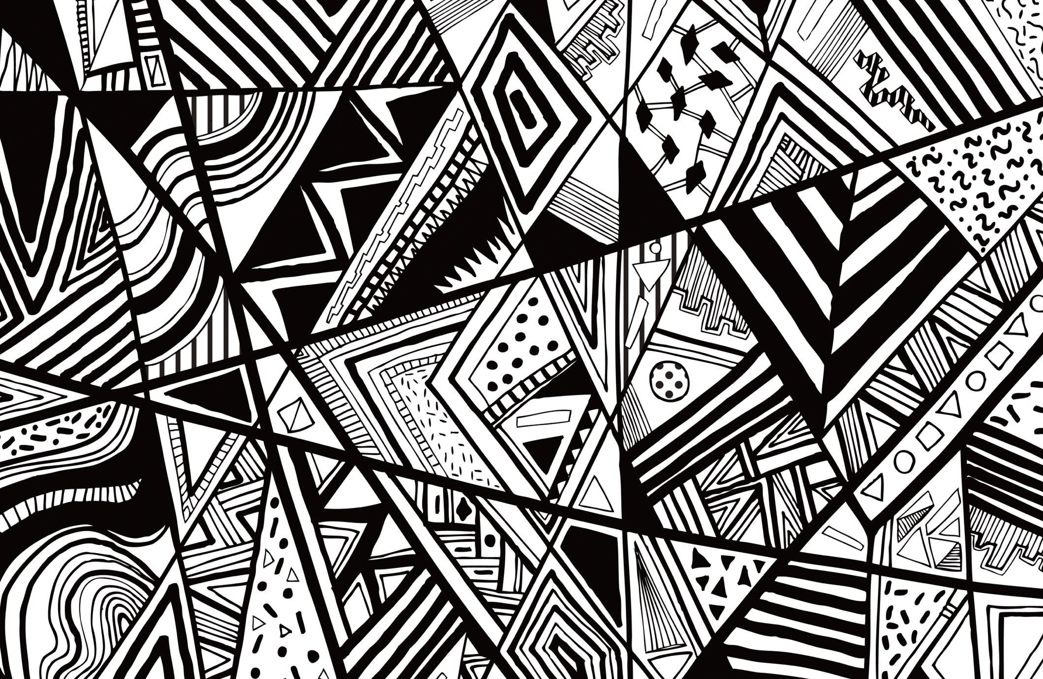 black and white abstract wallpaper (5) - download hd wallpapers