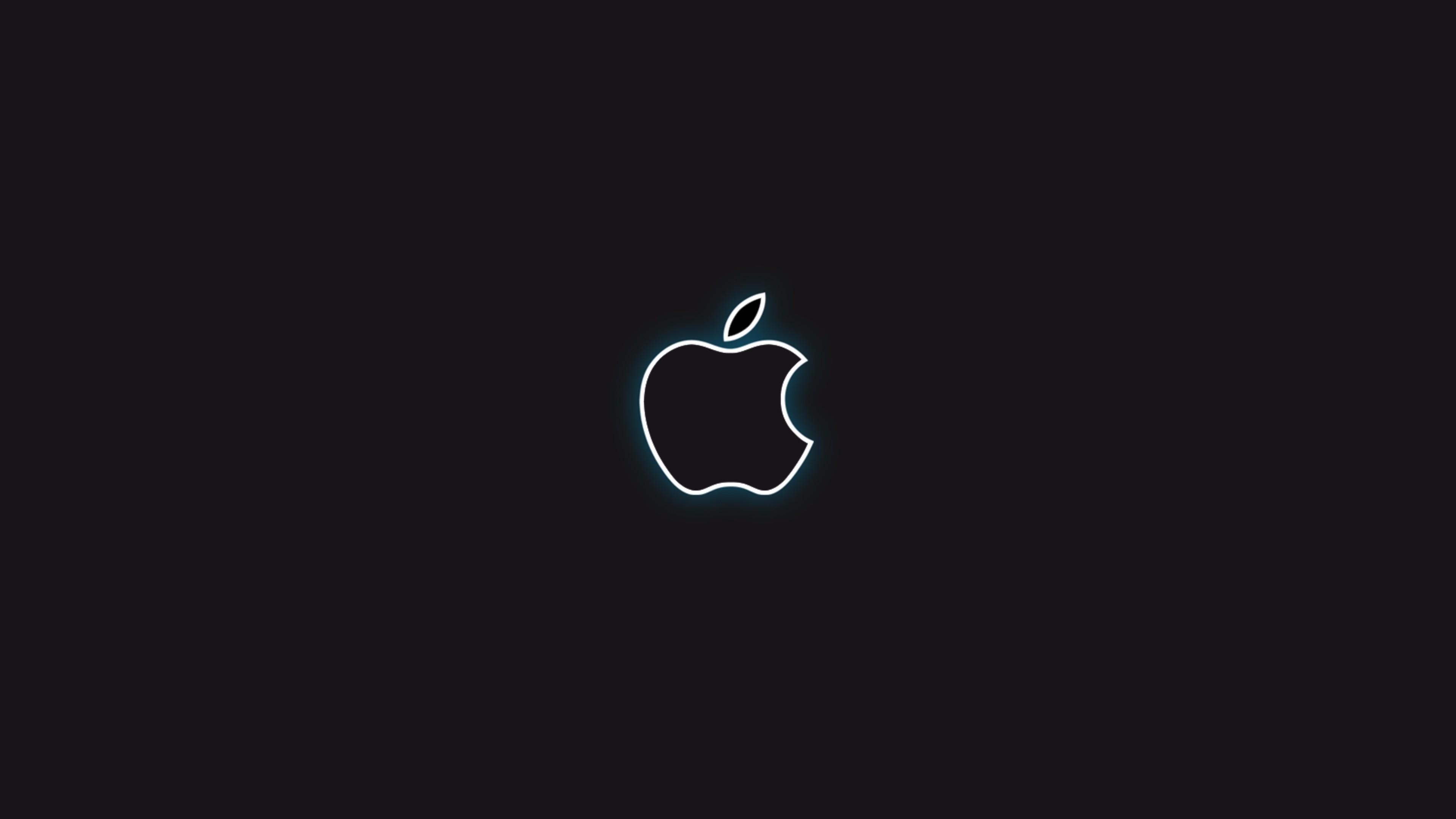 black apple logo 4k wallpaper | free 4k wallpaper