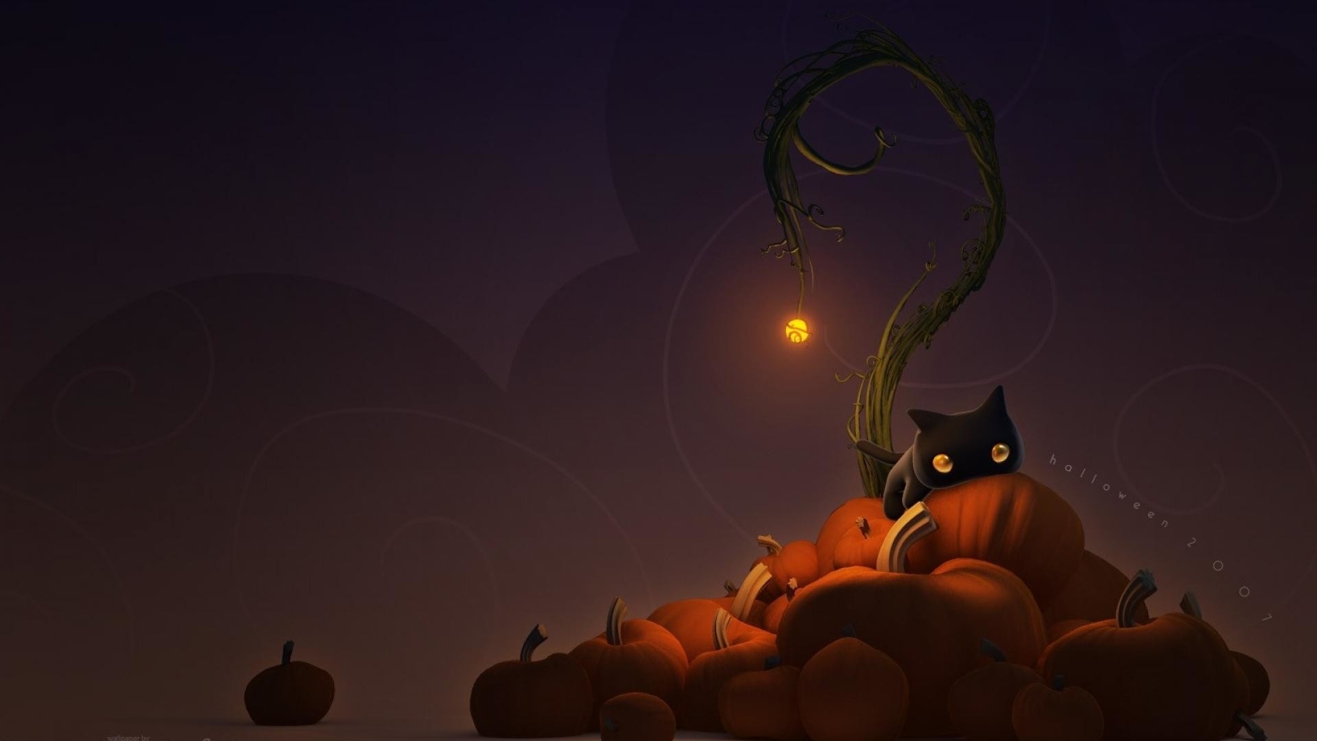 black cat halloween wallpaper (51+ images)