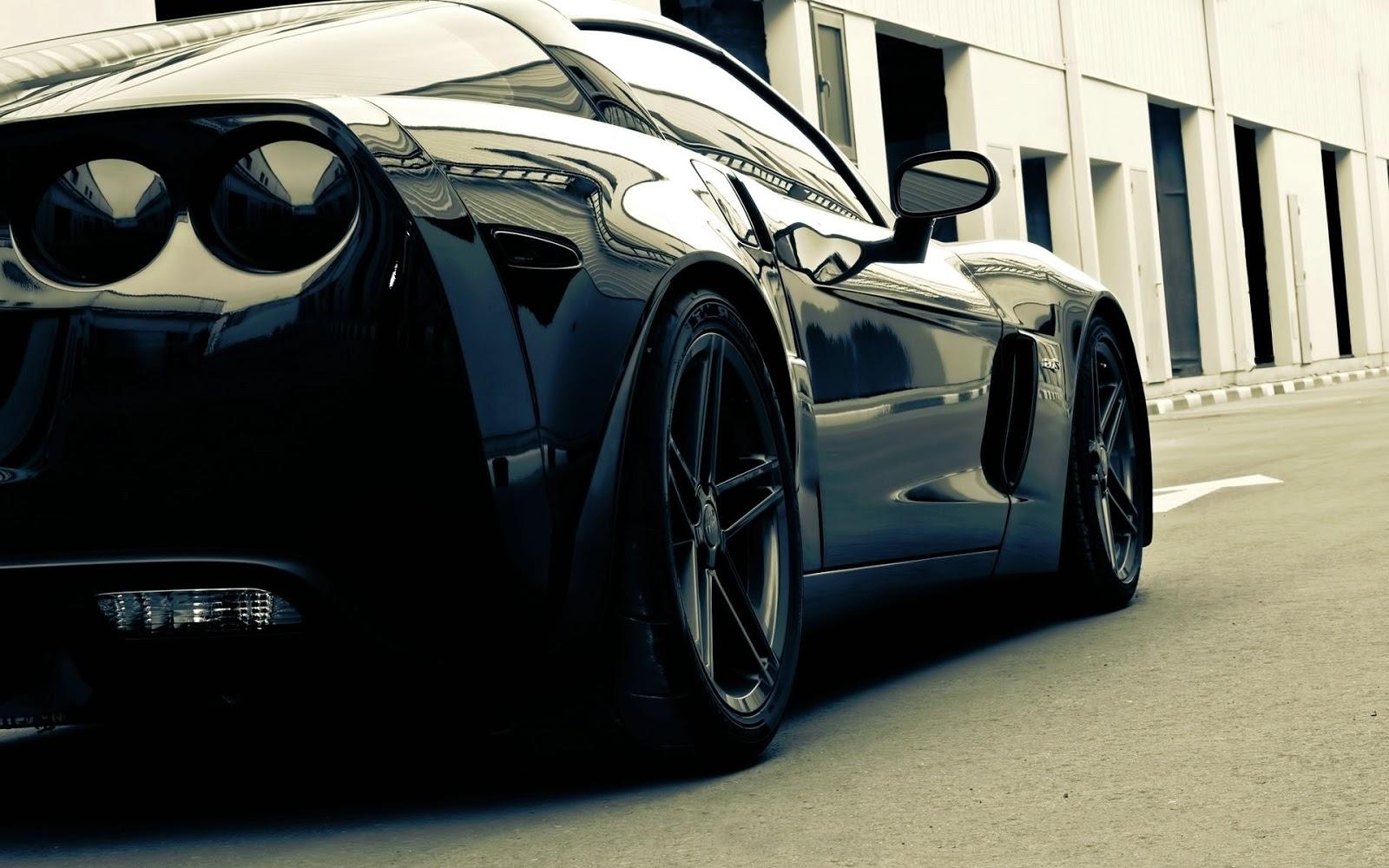 Attractive Title : Black Corvette Sport Car Hd Wallpaper Desktop Full For Of  Smartphone. Dimension : 1600 X 1000. File Type : JPG/JPEG