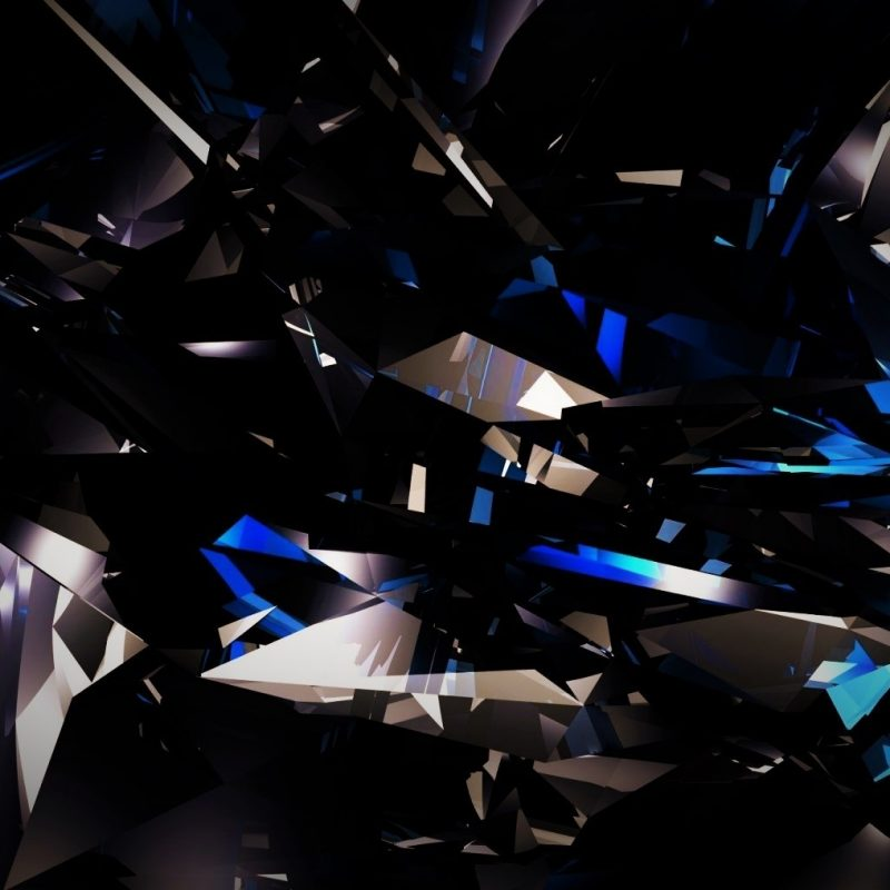 10 Latest Black Blue Shards Wallpaper FULL HD 1920×1080