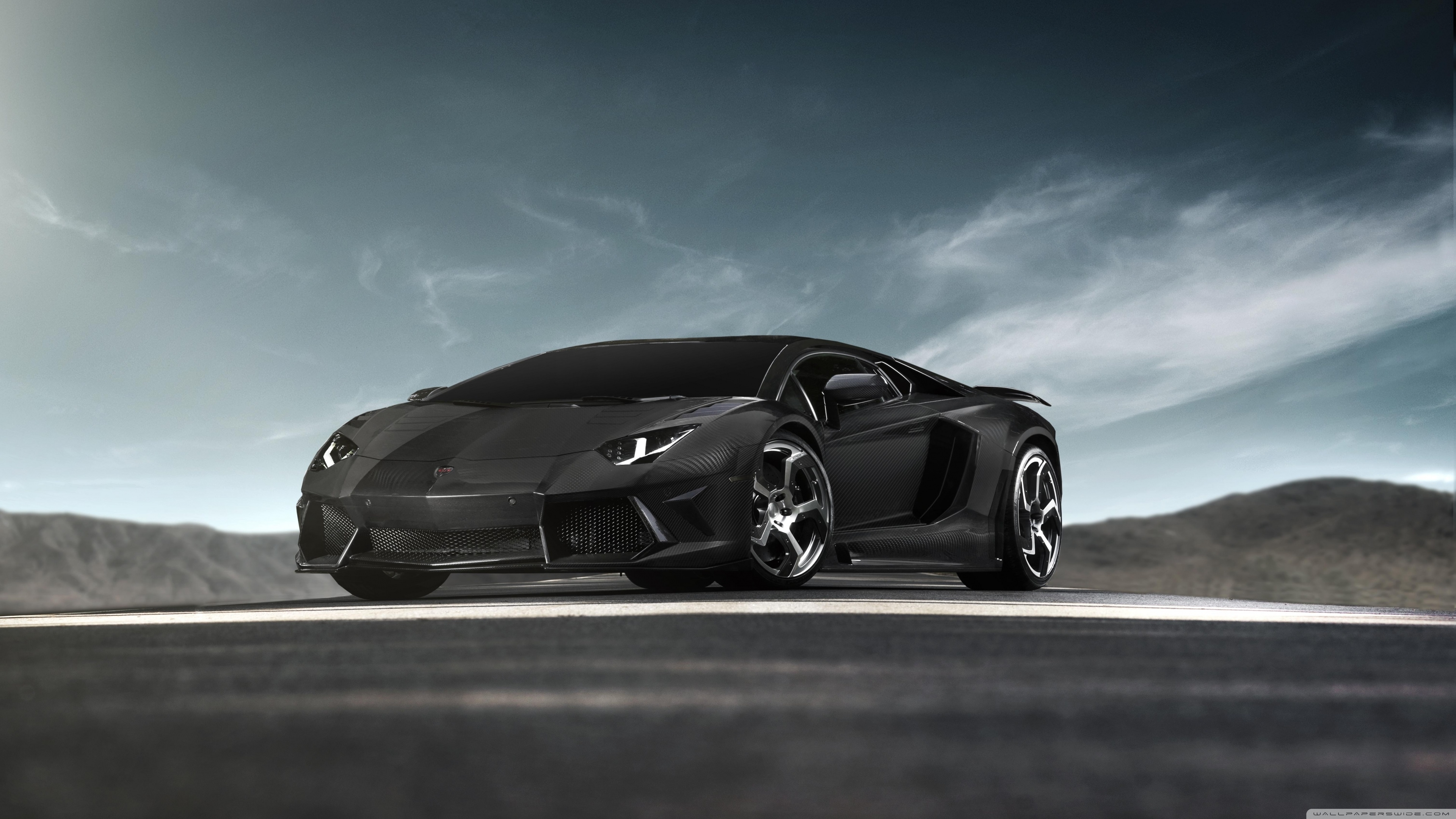 black lamborghini aventador supercar ❤ 4k hd desktop wallpaper for