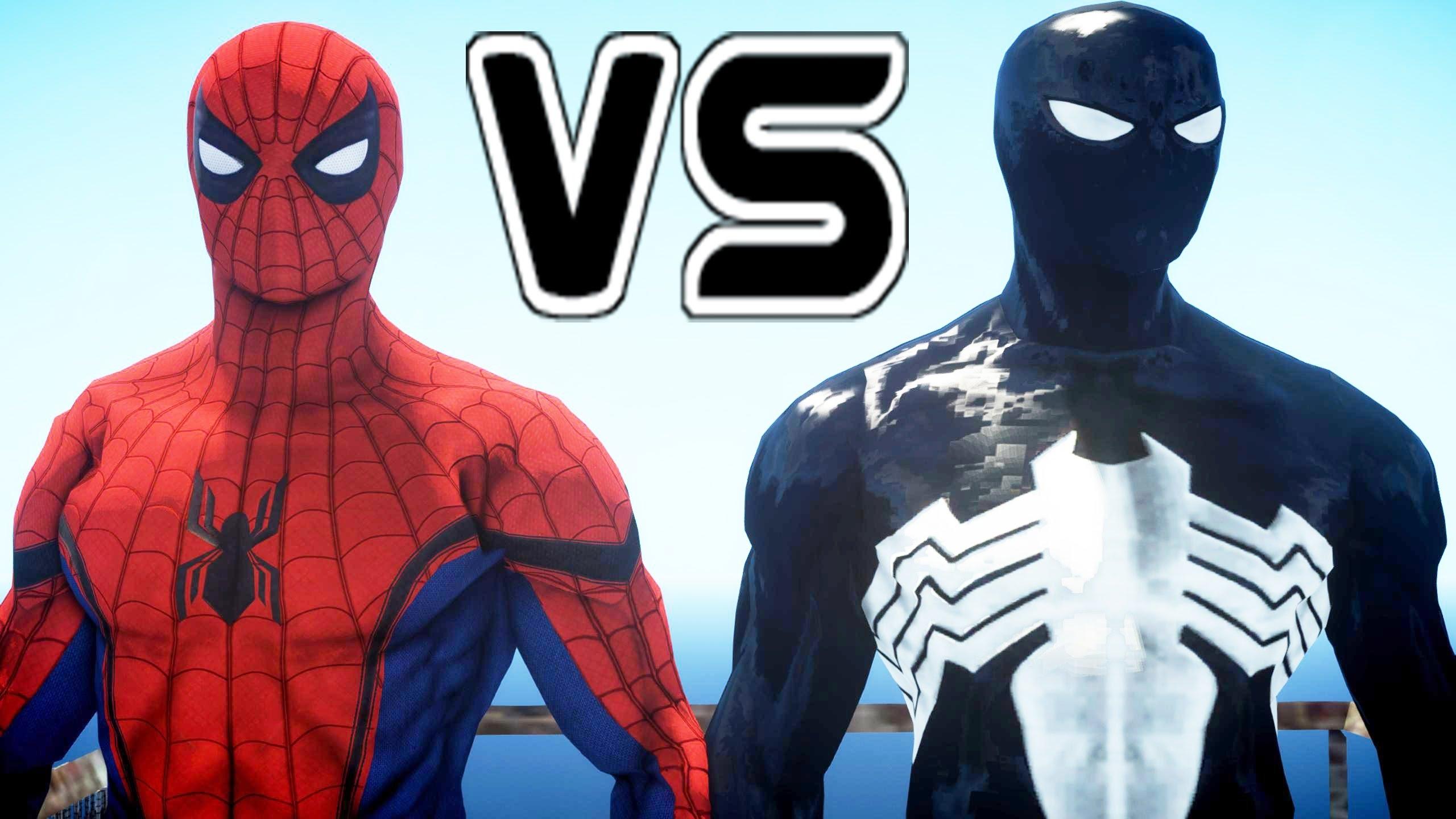black spiderman vs spider-man (civil war) - youtube