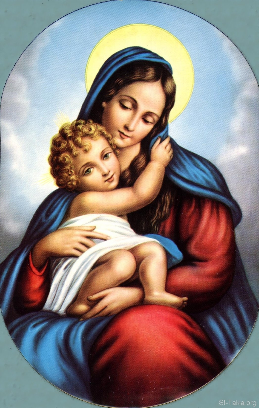 blessed virgin mary and baby jesus   mary   pinterest   blessed