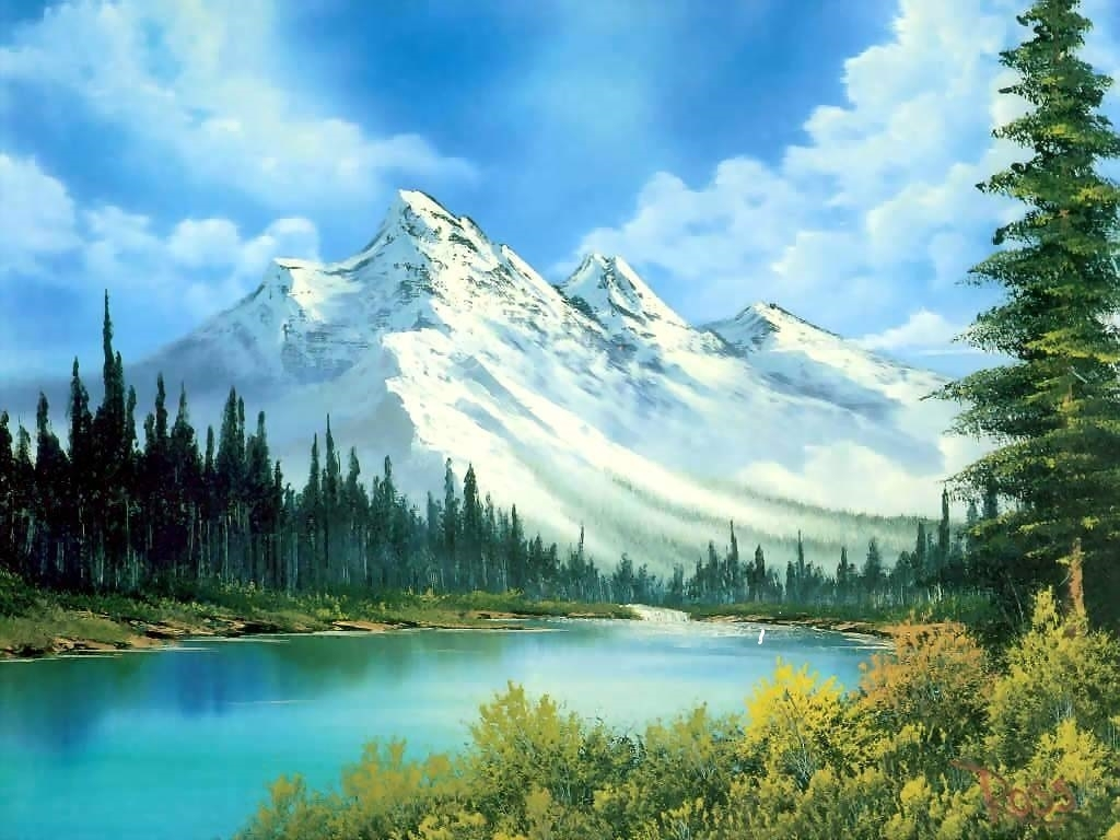 bob ross i love his work | art | pinterest | bob ross, watercolor