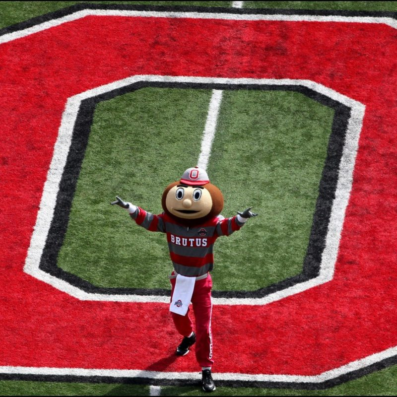 10 Latest Ohio State Buckeyes Football Wallpapers FULL HD 1080p For PC Desktop 2018 free download brutus buckeye at midfield ohio state football 1920 1080 wallpaper 800x800
