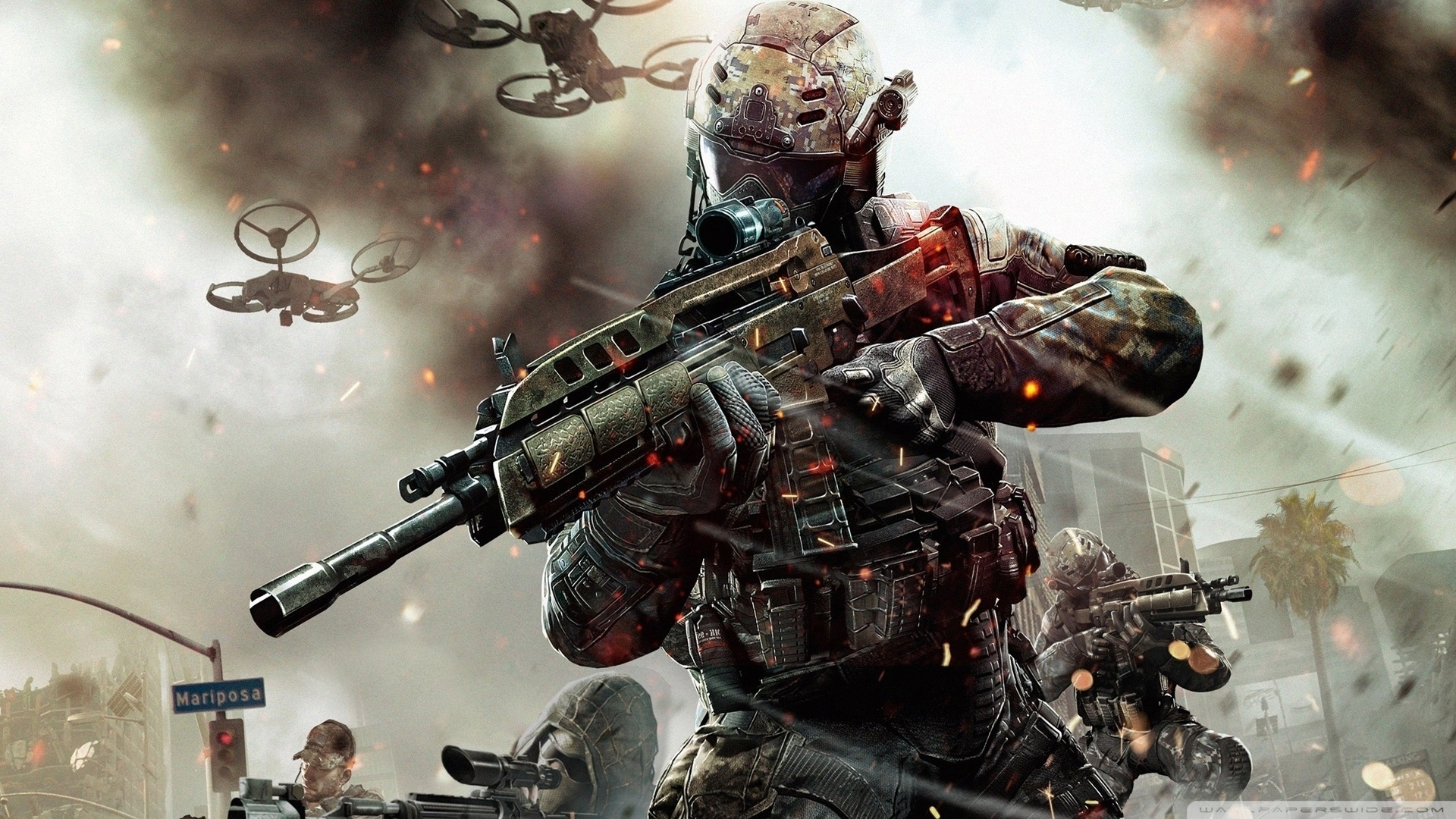call of duty black ops 2 game 2013-wallpaper-1920x1080 - 10 000