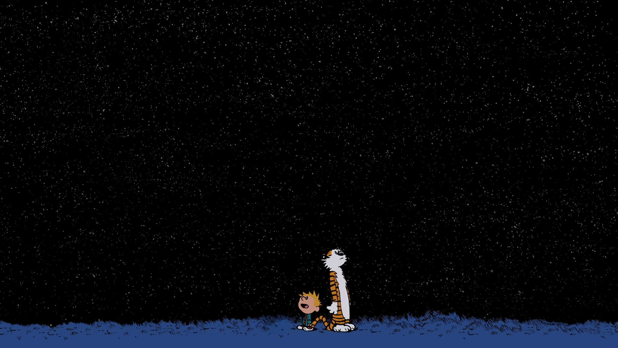 calvin and hobbes desktop wallpaper ·①