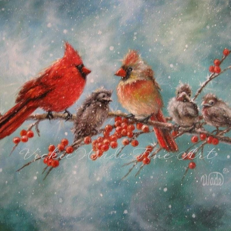 10 Best Cardinal Bird In Snow FULL HD 1080p For PC Background 2018 free download cardinal family art print cardinal paintings red birds winter 800x800