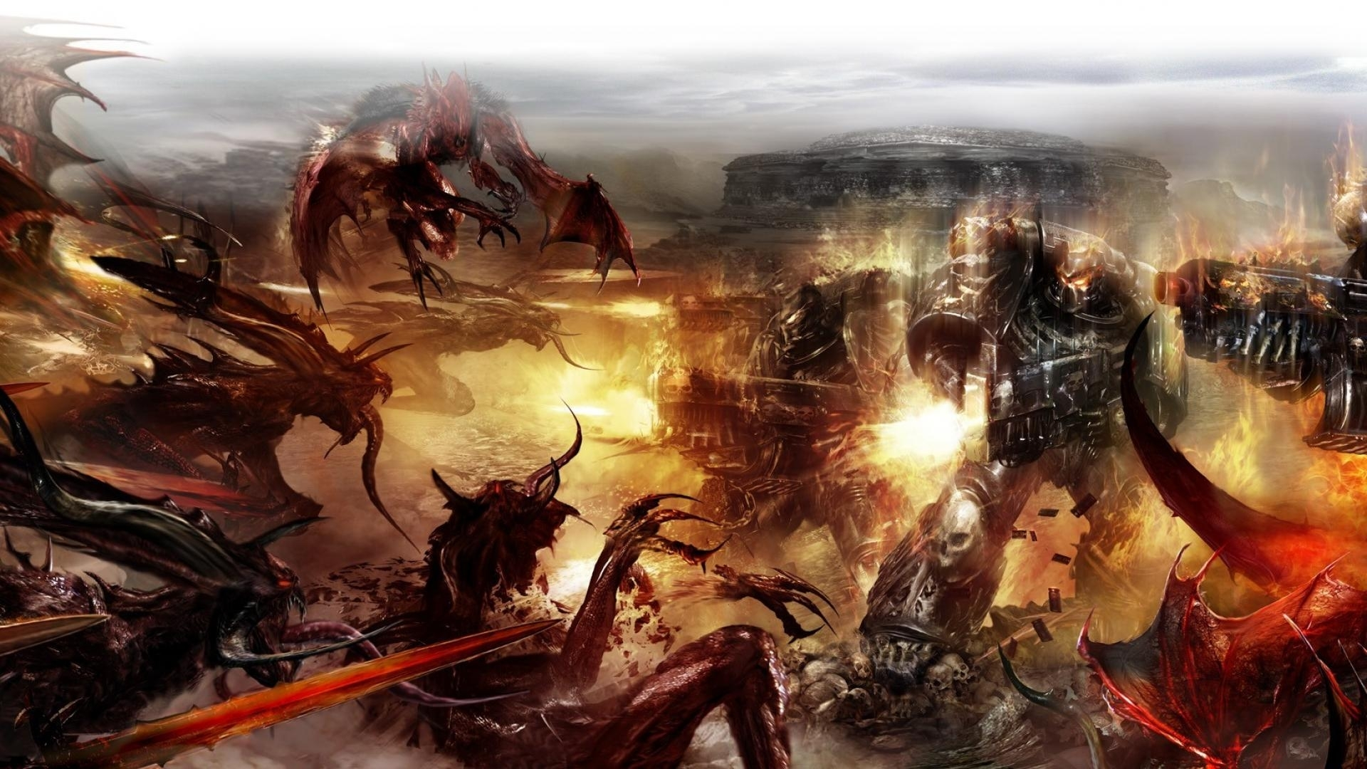 chaos space marines tyranids warhammer 40,000 wallpaper | (21022)