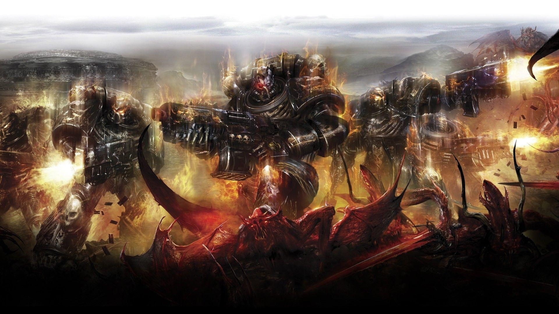 10 Best Warhammer 40K Chaos Space Marines Wallpaper FULL HD 1920×1080 For PC Desktop