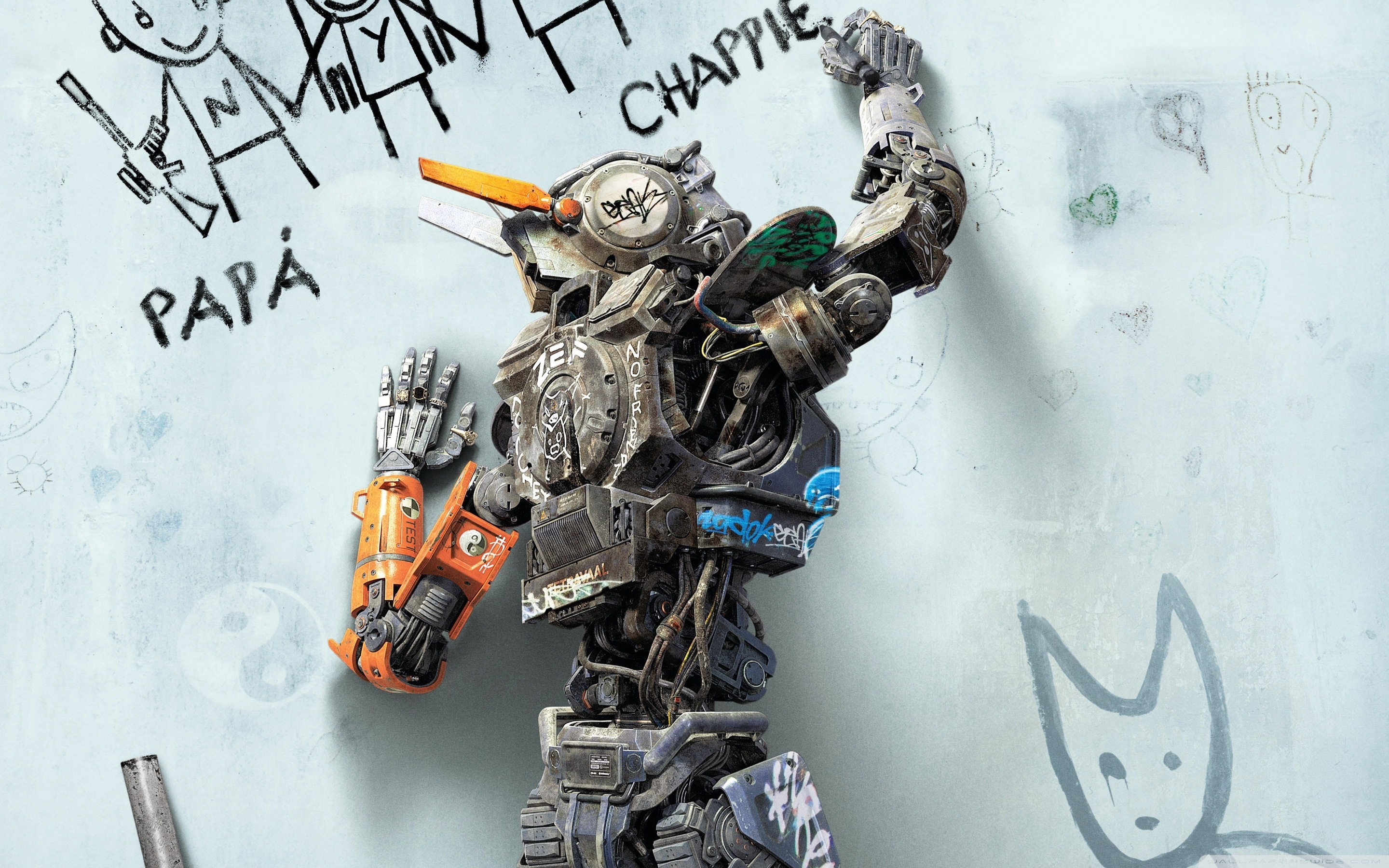 chappie 2015 movie ❤ 4k hd desktop wallpaper for 4k ultra hd tv