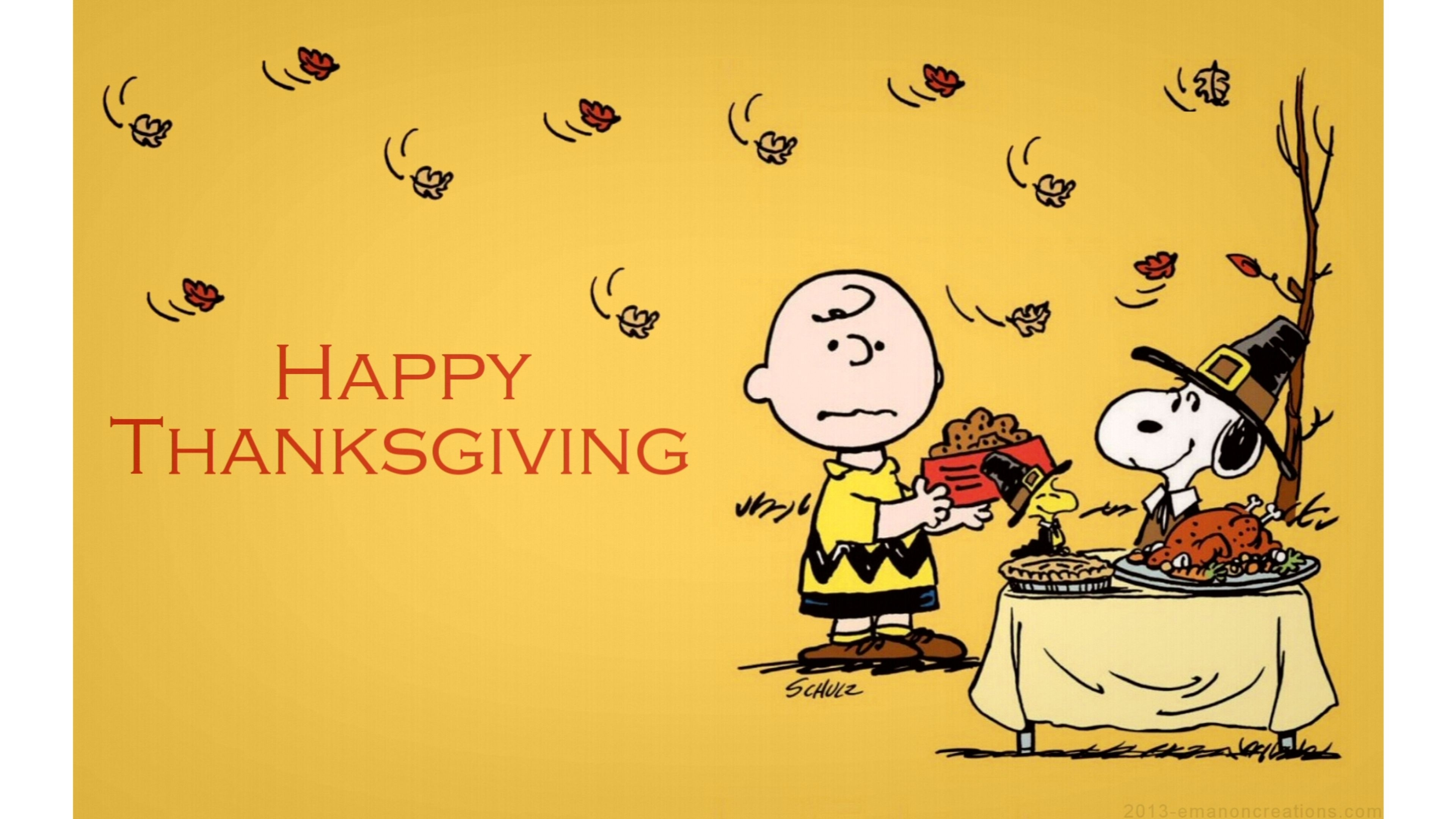 charlie brown thanksgiving 4k wallpaper | free 4k wallpaper