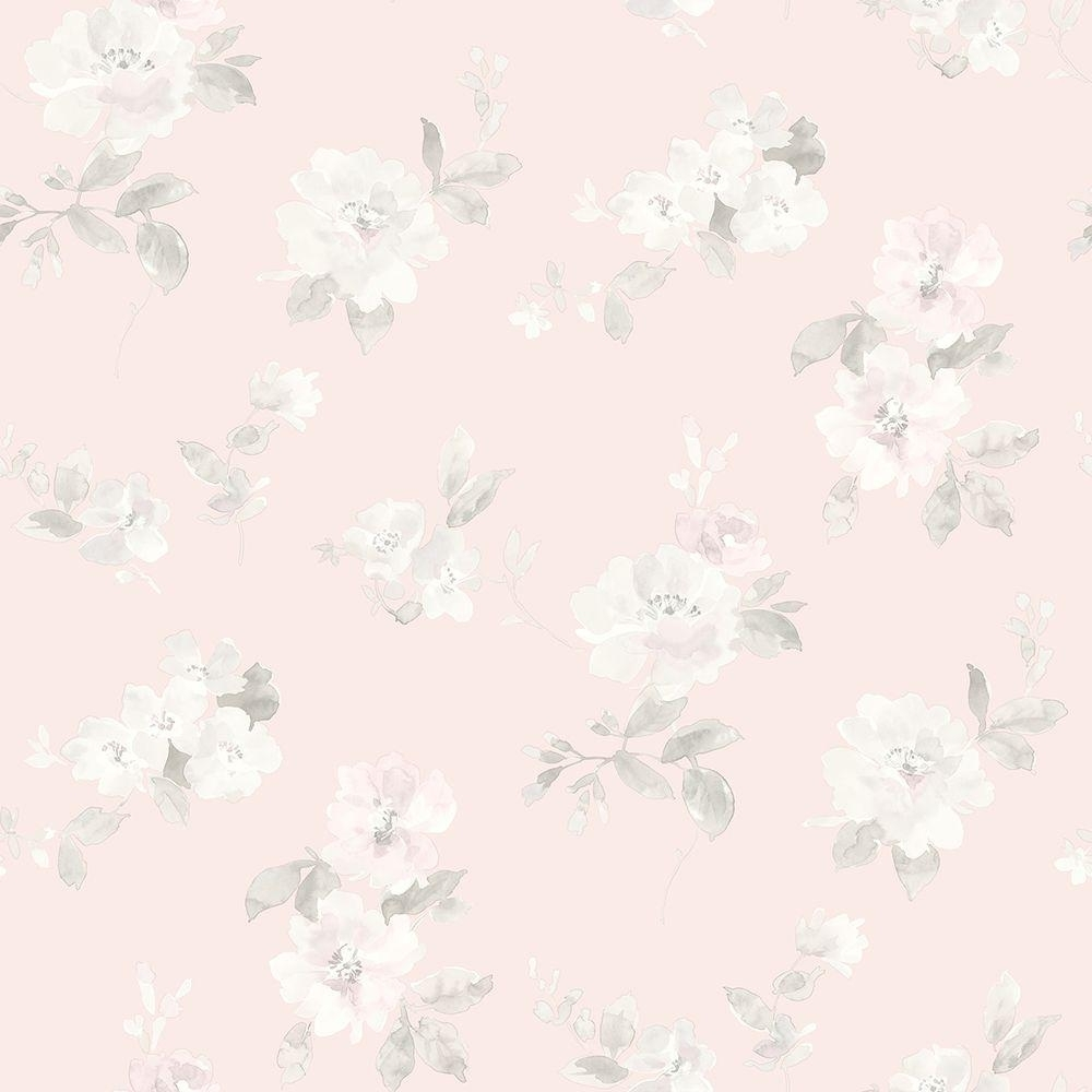 chesapeake captiva light pink floral toss wallpaper-has54598 - the