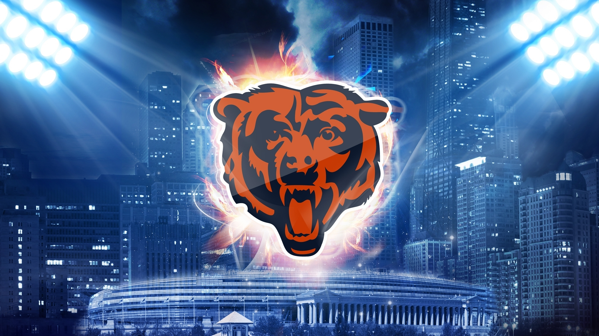 chicago bears desktop wallpaper 52903 1920x1080 px ~ hdwallsource