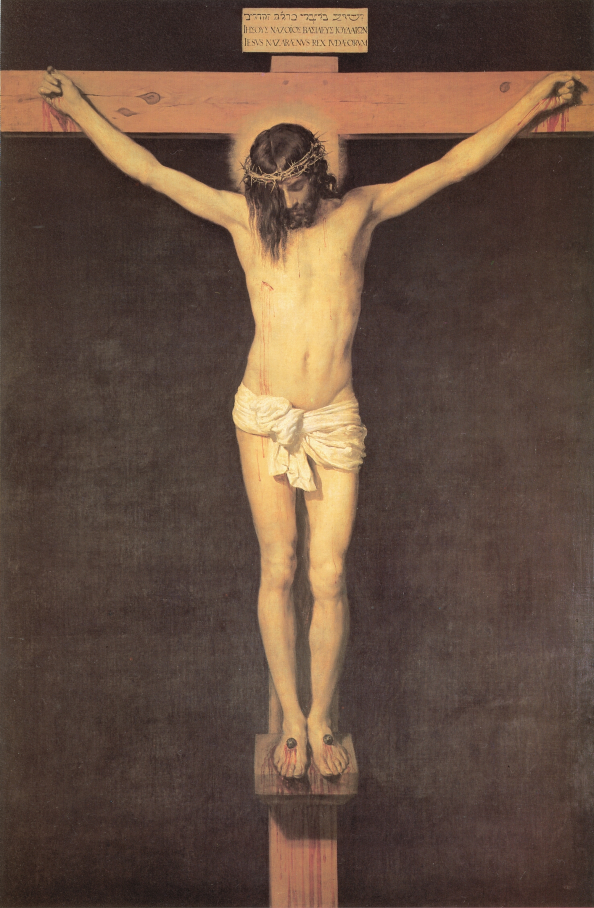 christ on the cross - diego velazquez - wikiart   from the cross
