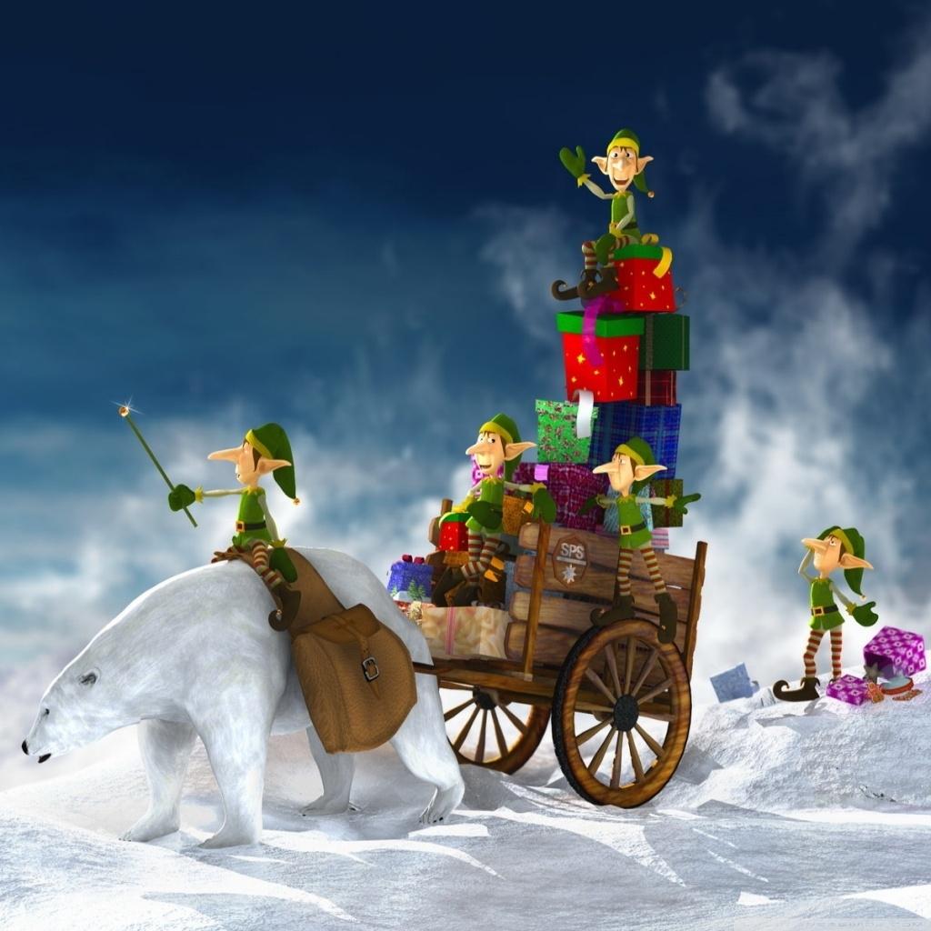 christmas elves 3d ❤ 4k hd desktop wallpaper for 4k ultra hd tv