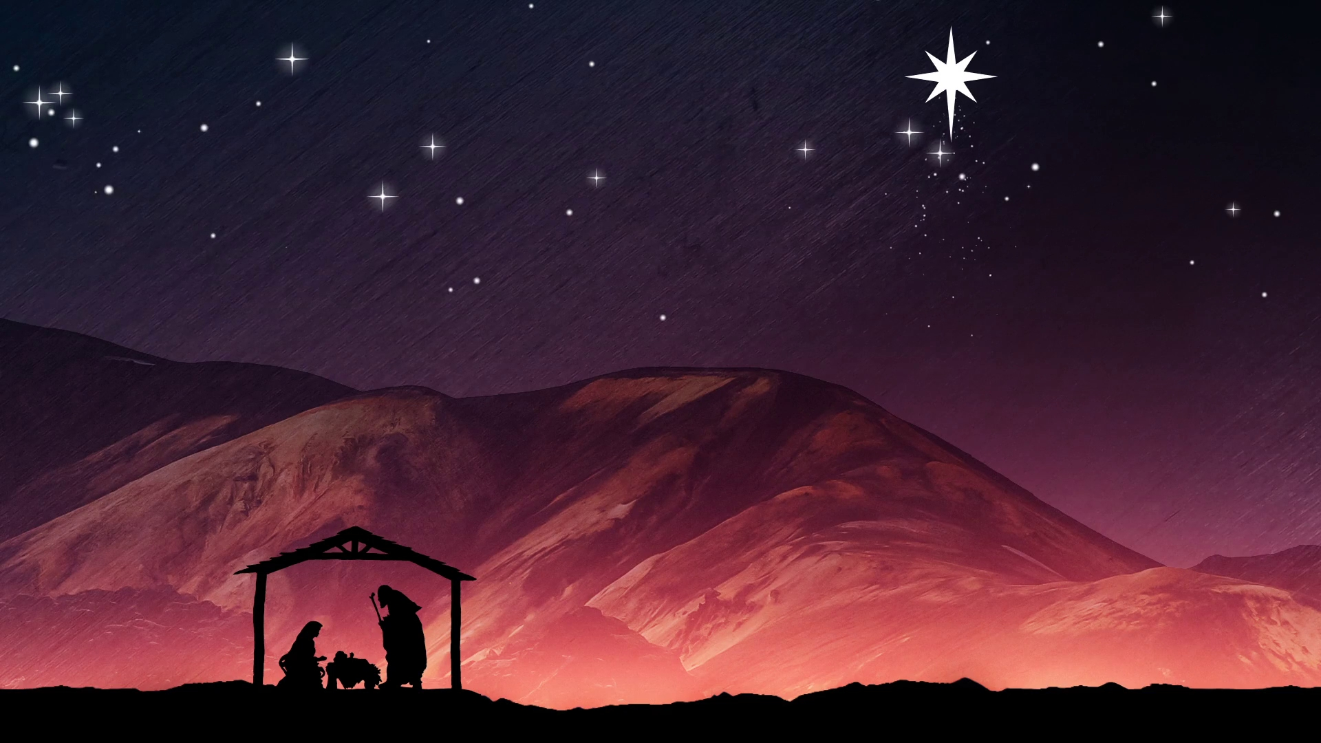 christmas nativity background. mary, joseph and baby jesus in a
