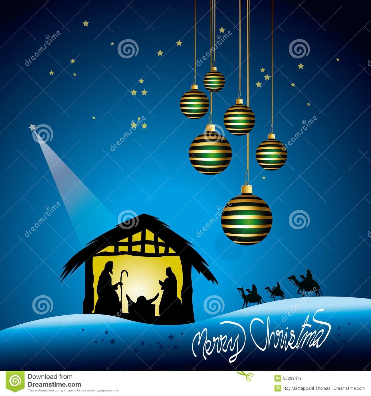 christmas nativity scene stock vector. illustration of religious