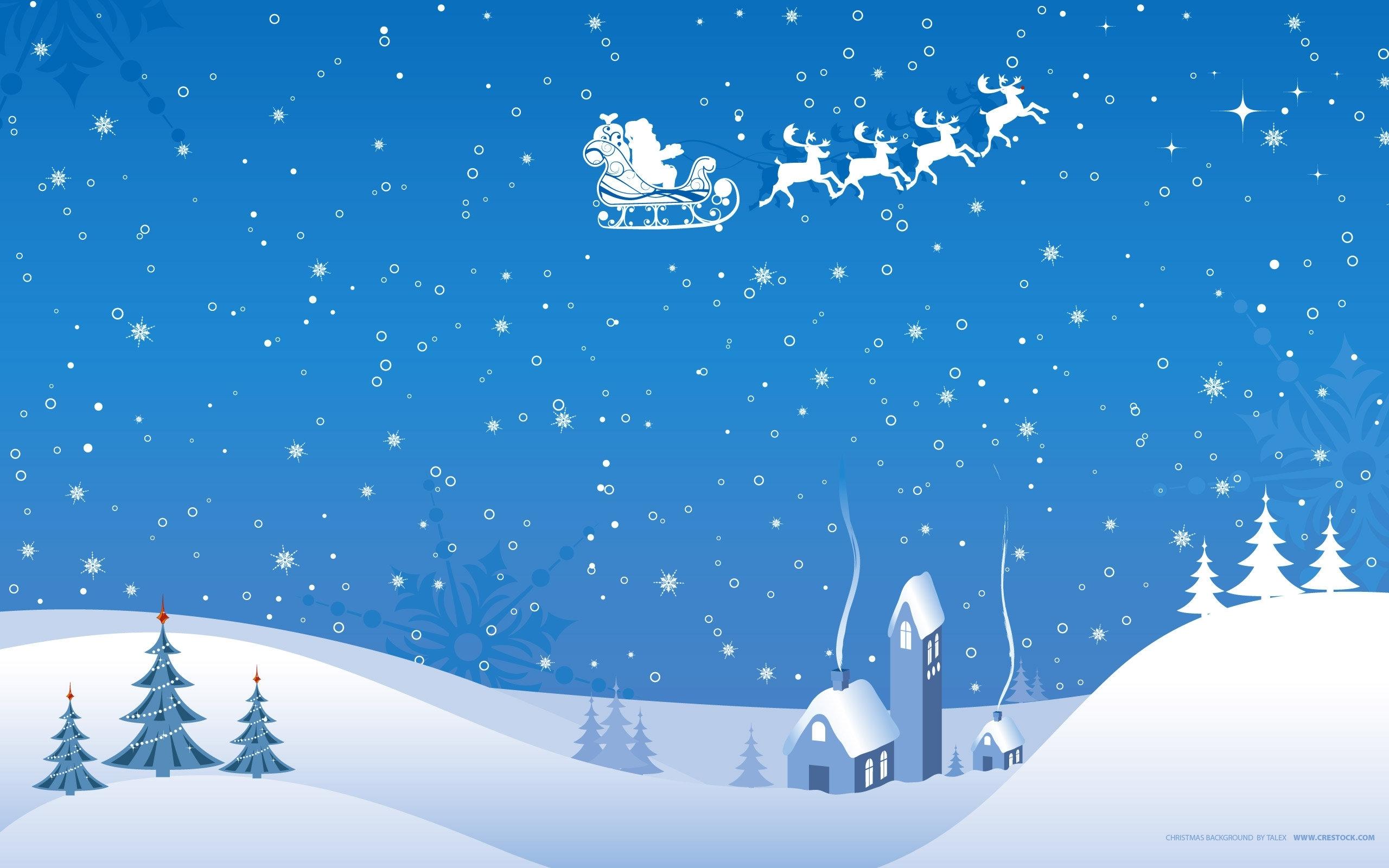 christmas snow scene wallpaper | 2560x1600 | 1208 | wallpaperup