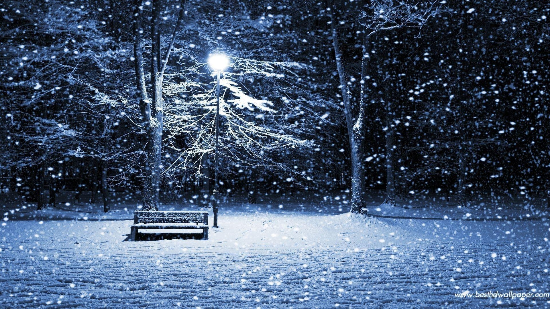 christmas snow scene wallpapers - wallpaper cave