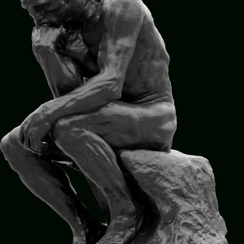 10 Latest Images Of The Thinker FULL HD 1080p For PC Desktop 2018 free download clipart the thinker grayscale 800x800