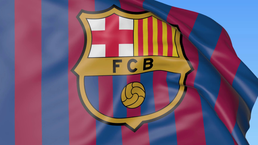 10 Latest Barcelona Soccer Team Logos FULL HD 1920×1080 For PC Desktop 2020 free download close up of waving flag with fc barcelona football club logo 1024x576