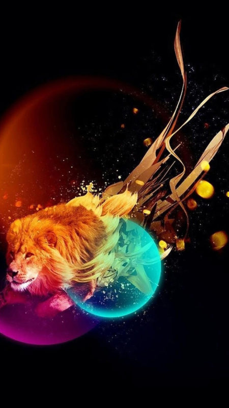 10 Latest Galaxy Lion Wallpaper FULL HD 1920×1080 For PC Background 2018 free download colorful lion wallpaper wallpapersafari 450x800