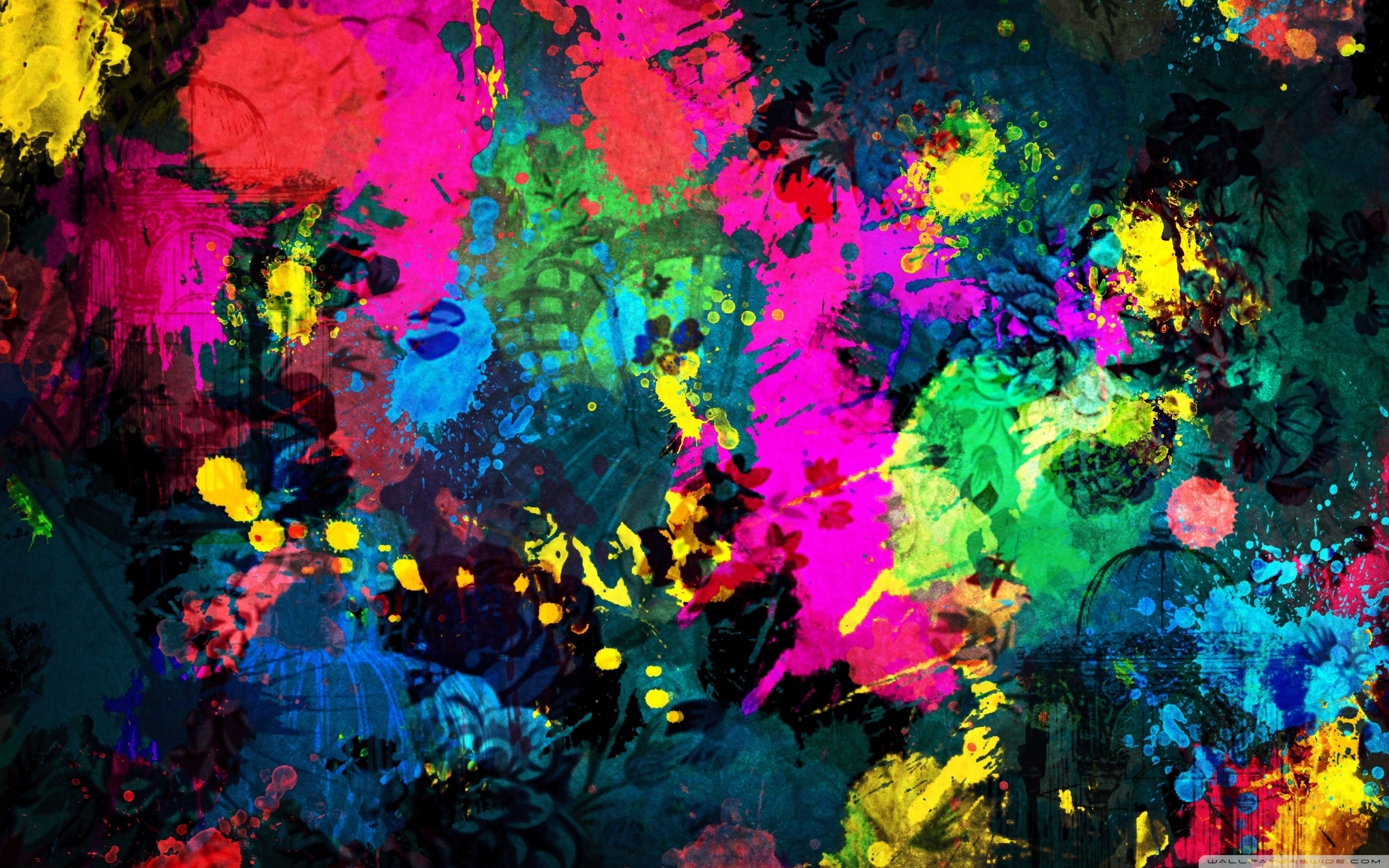 colorful paint splatter ❤ 4k hd desktop wallpaper for 4k ultra hd